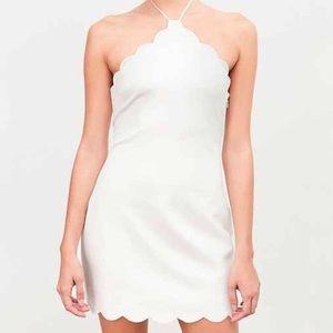 UO Kimchi Blue white halter dress